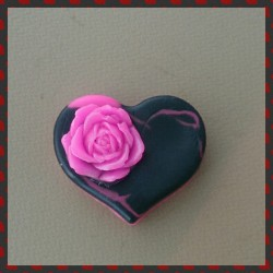 Fuchsia rose heart