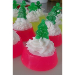 Christmas tree neon soap