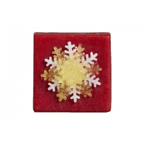 Snowflake soap red
