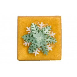 Snowflake soap gold